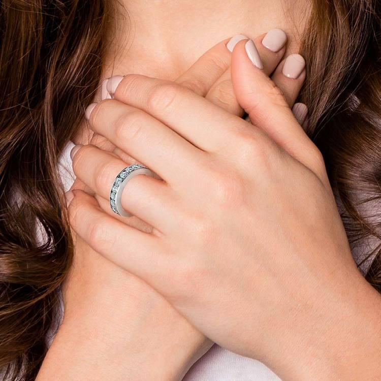 Channel Diamond Eternity Ring in Platinum (3 ctw) | 06