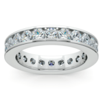 Channel Diamond Eternity Ring in White Gold (2 1/4 ctw) | Thumbnail 02