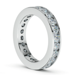 Channel Diamond Eternity Ring in White Gold (2 1/4 ctw) | Thumbnail 04
