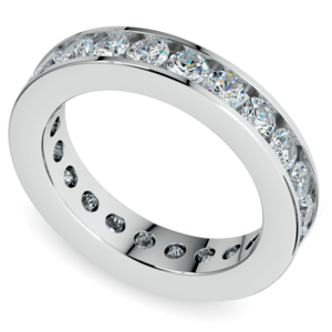 Channel Diamond Eternity Ring in White Gold (2 1/4 ctw)