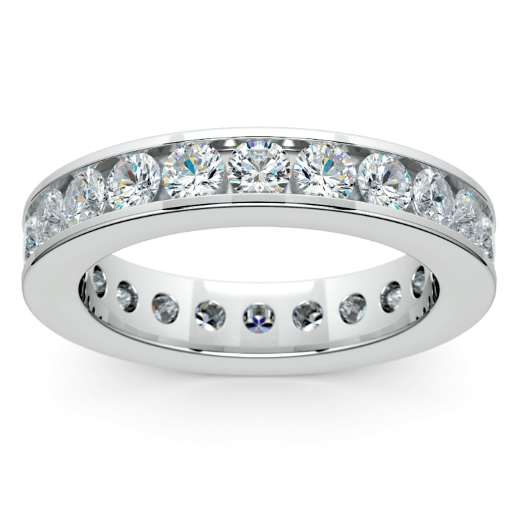Channel Diamond Eternity Ring in White Gold (2 1/4 ctw) | 02