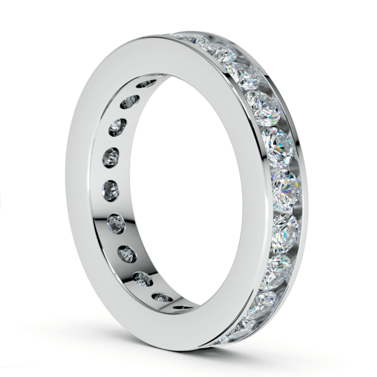 Channel Diamond Eternity Ring in White Gold (2 1/4 ctw) | 04
