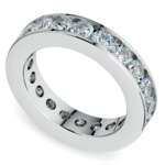 Channel Diamond Eternity Ring in White Gold (3 ctw) | Thumbnail 01