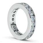 Channel Diamond Eternity Ring in White Gold (3 ctw) | Thumbnail 04