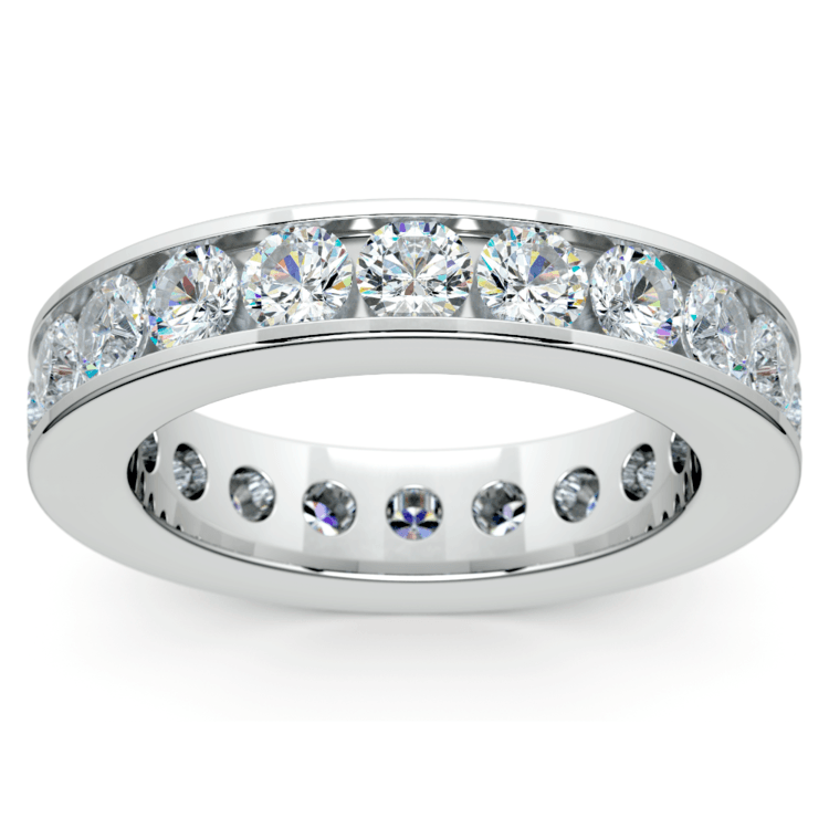 Channel Diamond Eternity Ring in White Gold (3 ctw) | 02