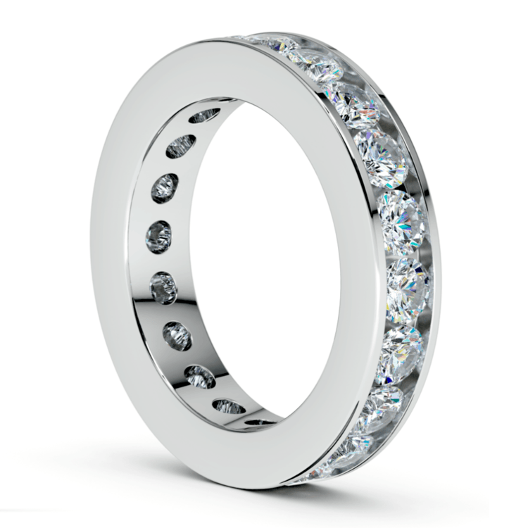 Channel Diamond Eternity Ring in White Gold (3 ctw) | 04