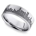 Chicago Skyline Men's Wedding Ring in Cobalt | Thumbnail 01