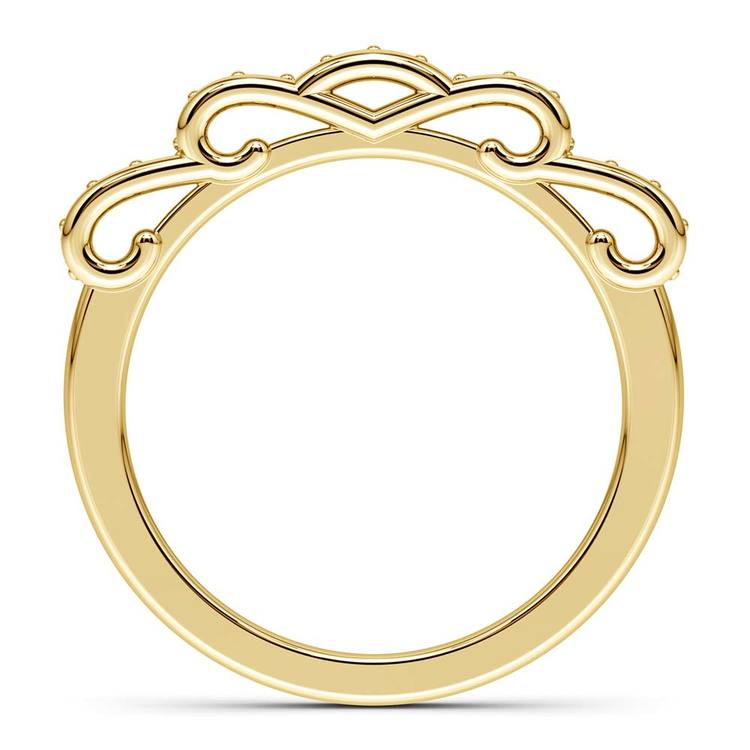Cinderella Ribbon Diamond Wedding Ring in Yellow Gold | 03