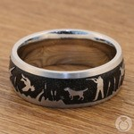 Duck Season - Cobalt Mens Band with Duck Hunting Pattern | Thumbnail 03