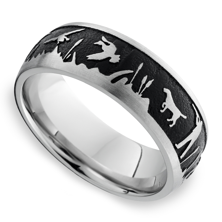 Duck Season - Cobalt Mens Band with Duck Hunting Pattern | 01