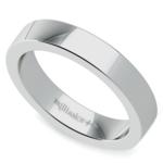 Flat Men's Wedding Ring in Palladium (4mm) | Thumbnail 01