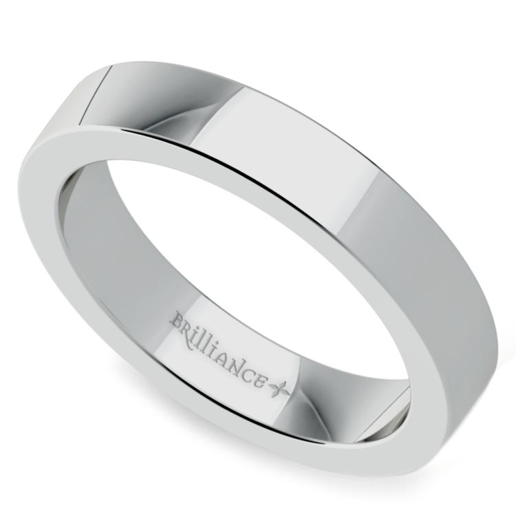 Flat Men's Wedding Ring in Palladium (4mm) | 01