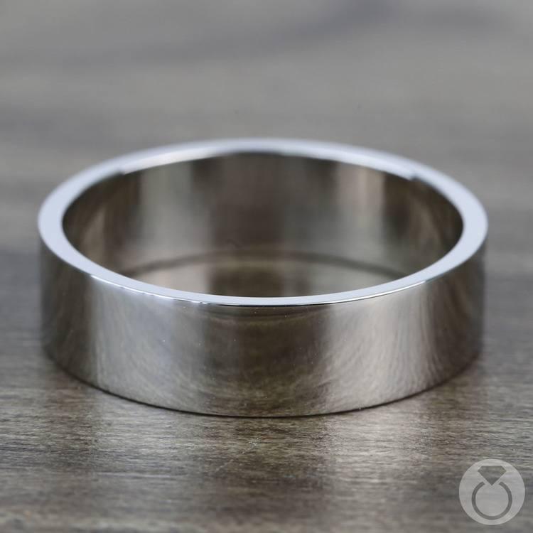 Flat Men's Wedding Ring in Palladium (6mm) | 03