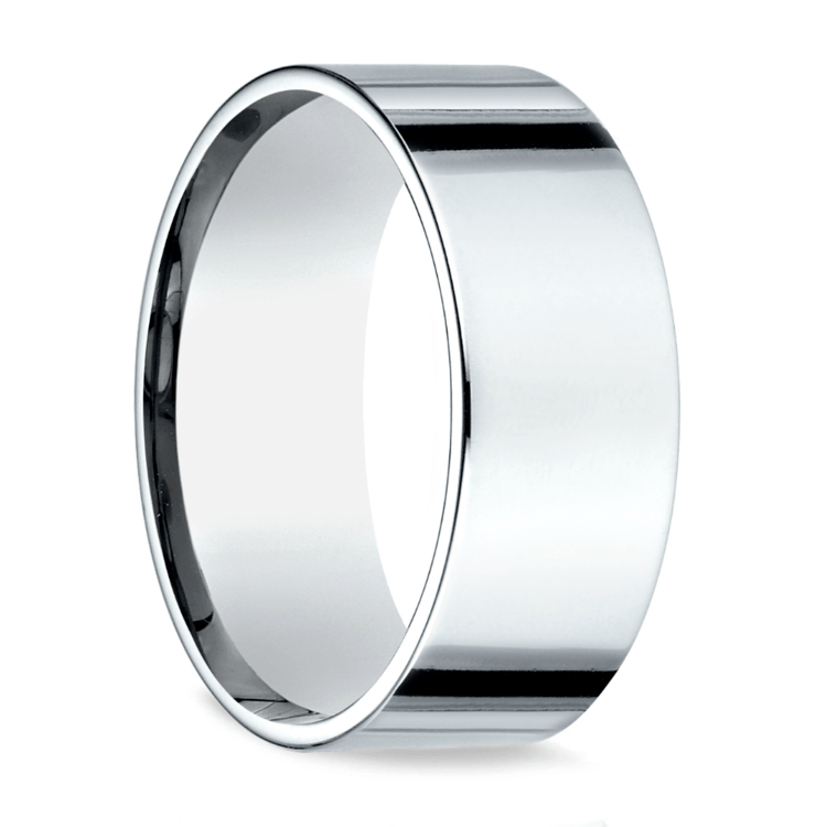 Flat Men's Wedding Ring in Palladium (8mm)   02