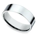 Flat Men's Wedding Ring in Platinum (6mm) | Thumbnail 01