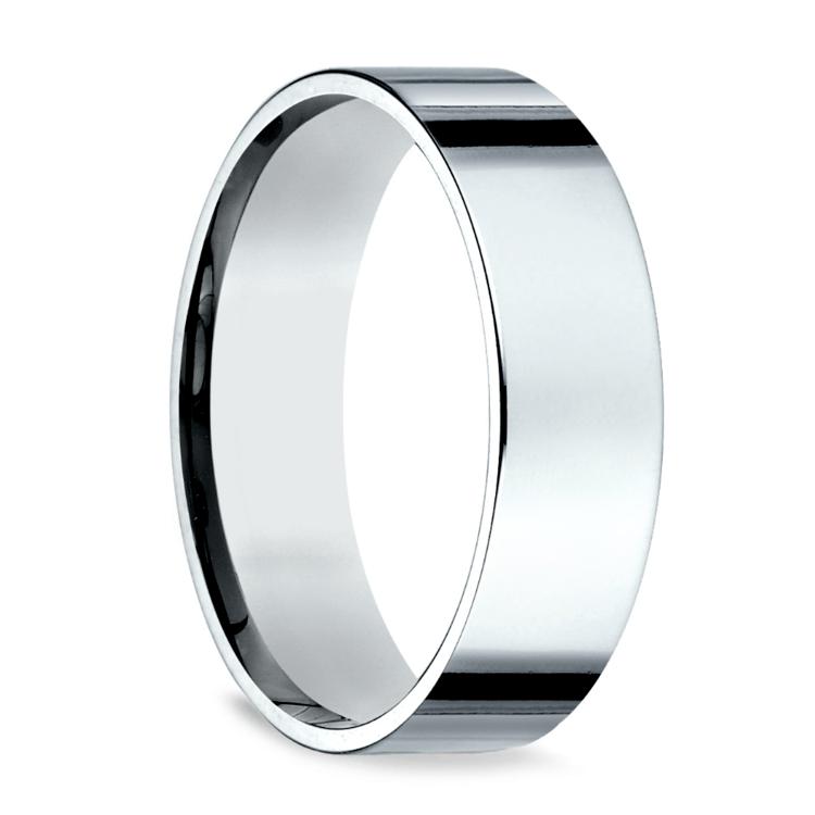 Flat Men's Wedding Ring in Platinum (6mm) | 02