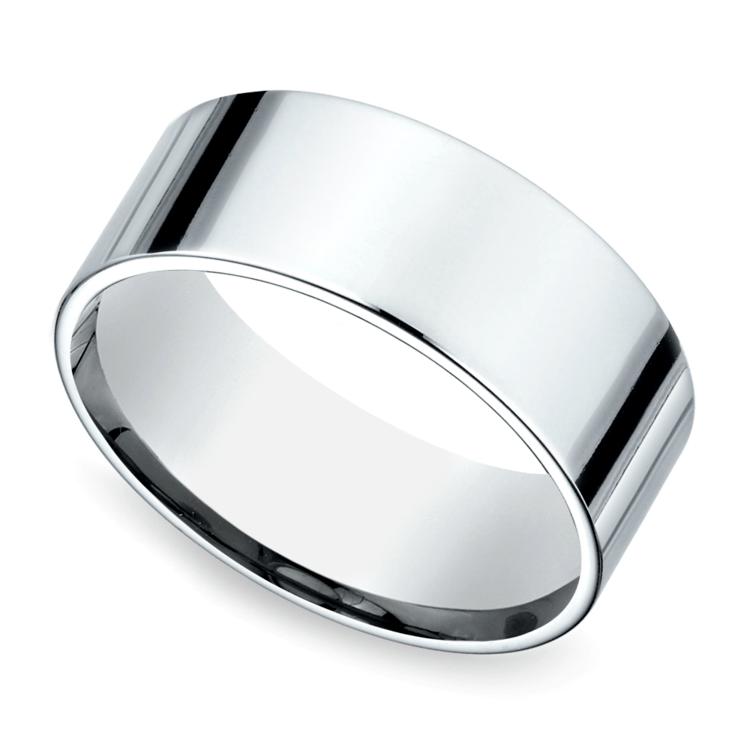 Flat Men's Wedding Ring in Platinum (8mm) | 01