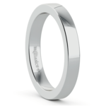 Flat Men's Wedding Ring in White Gold (3mm) | Thumbnail 02