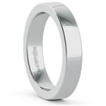 Flat Men's Wedding Ring in White Gold (4mm) | Thumbnail 02