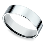 Flat Men's Wedding Ring in White Gold (6mm) | Thumbnail 01