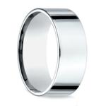 Flat Men's Wedding Ring in White Gold (8mm) | Thumbnail 02