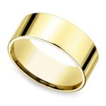 Flat Men's Wedding Ring in Yellow Gold (8mm) | Thumbnail 01