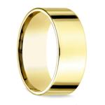 Flat Men's Wedding Ring in Yellow Gold (8mm) | Thumbnail 02