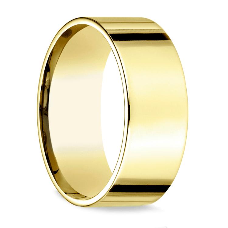 Flat Men's Wedding Ring in Yellow Gold (8mm) | 02