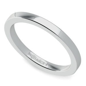 Flat Wedding Ring in Palladium (2mm)