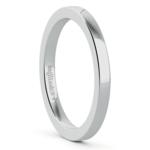 Flat Wedding Ring in Platinum (2mm) | Thumbnail 02