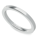 Flat Wedding Ring in White Gold (2mm) | Thumbnail 01