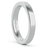 Flat Wedding Ring in White Gold (3mm) | Thumbnail 02