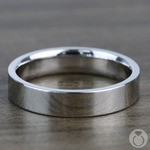 Flat Wedding Ring in White Gold (4mm) | Thumbnail 03