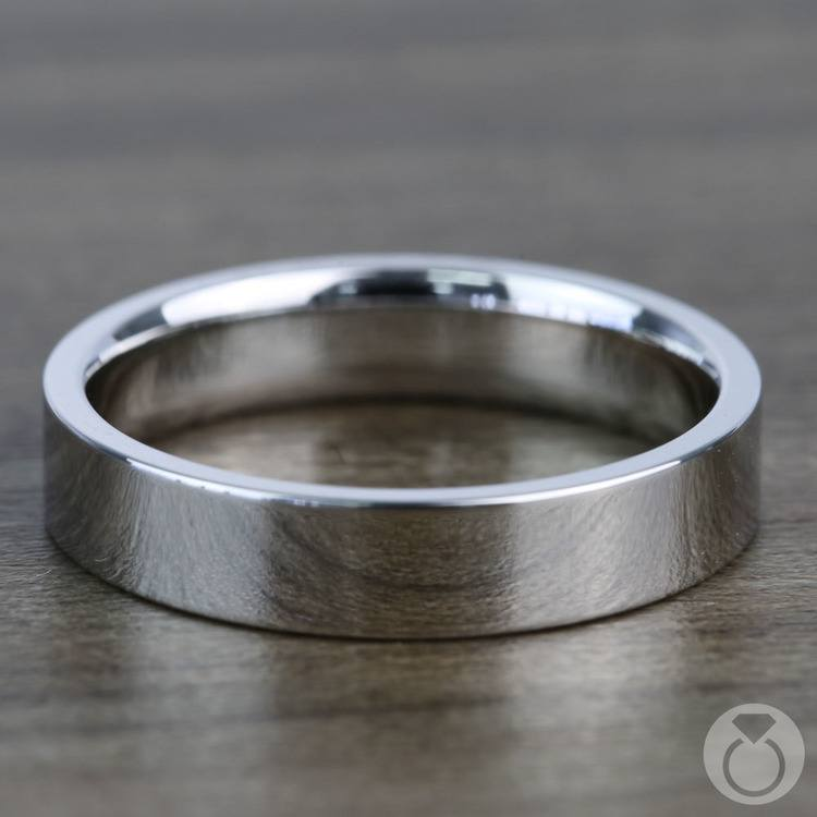 Flat Wedding Ring in White Gold (4mm) | 03