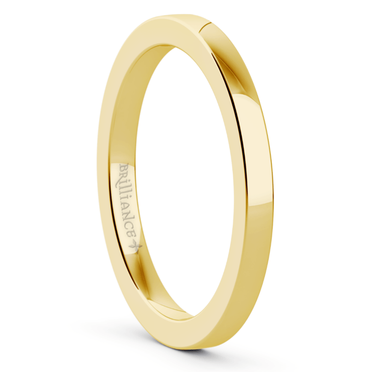 Flat Wedding Ring in Yellow Gold (2mm) | 02