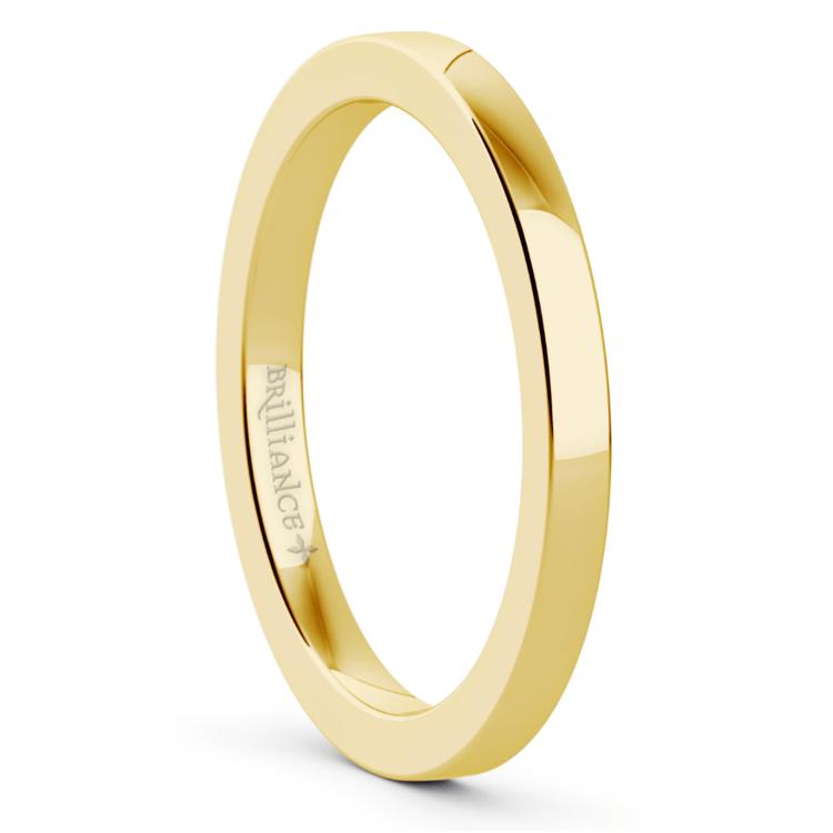 2 mm Gold Flat Wedding Band (14k Or 18k Gold) | 02