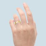 Yellow Gold Flat Wedding Band (3 mm Wide) | Thumbnail 03