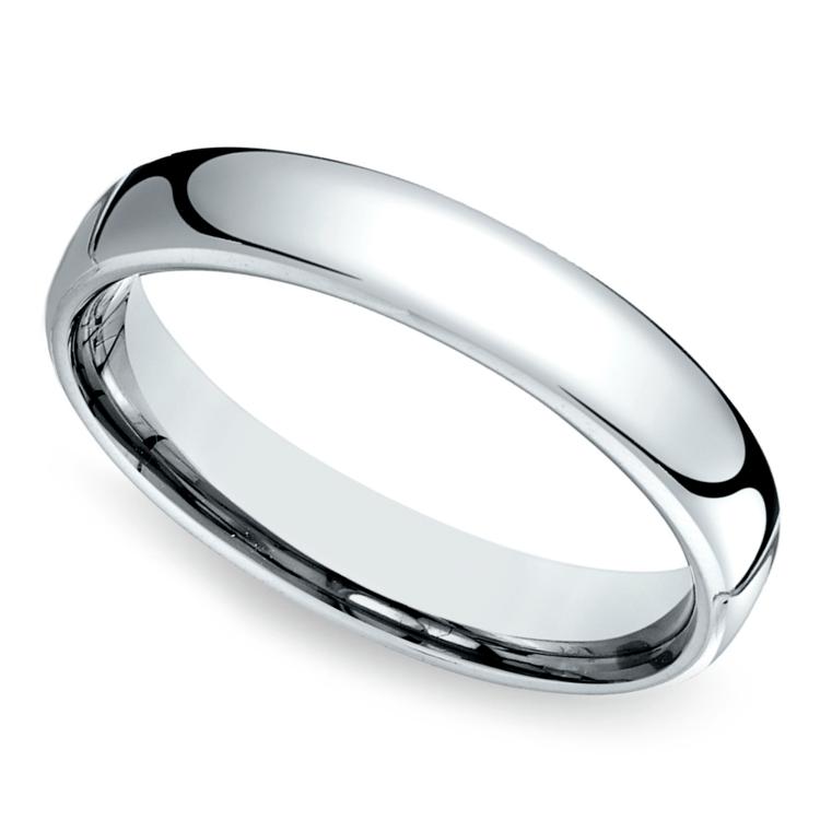 Comfort Fit Men's Wedding Ring in Cobalt (4.5mm) | 01