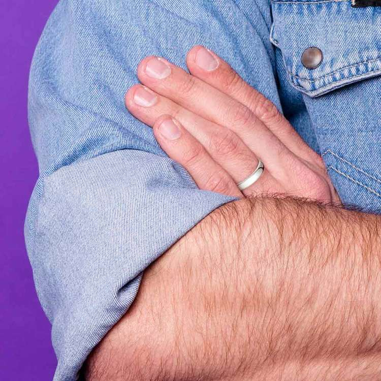 Comfort Fit Men's Wedding Ring in Cobalt (4.5mm) | 04