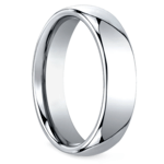 Comfort Fit Men's Wedding Ring in Cobalt (6mm) | Thumbnail 02