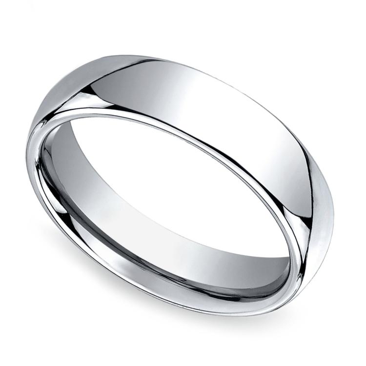 Comfort Fit Men's Wedding Ring in Cobalt (6mm) | 01