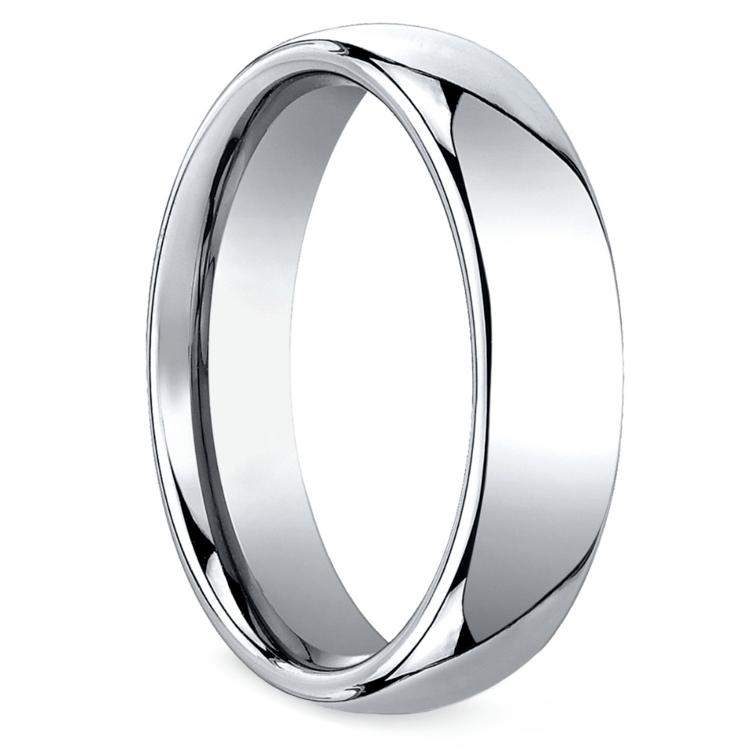 Comfort Fit Men's Wedding Ring in Cobalt (6mm) | 02