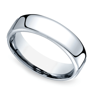 Comfort Fit Men's Wedding Ring in Cobalt (6.5mm)