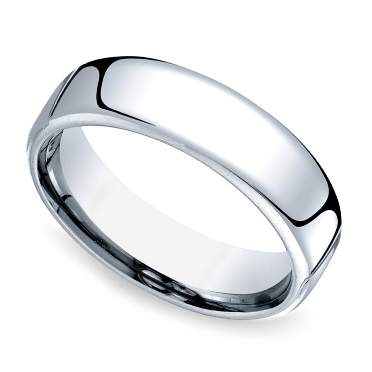 Comfort Fit Men's Wedding Ring in Cobalt (6.5mm) | 01