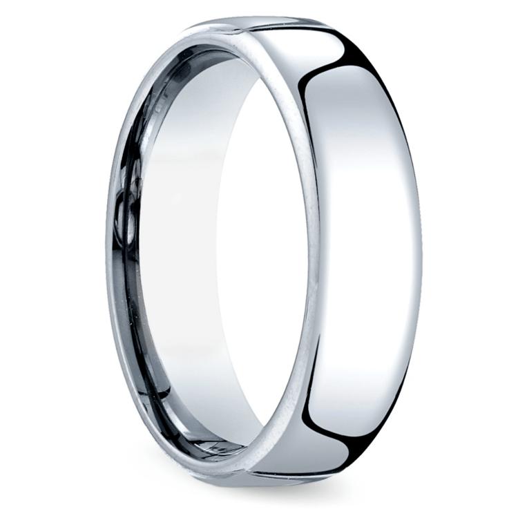 Comfort Fit Men's Wedding Ring in Cobalt (6.5mm) | 02