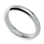 Comfort Fit Men's Wedding Ring in Palladium (3mm) | Thumbnail 01