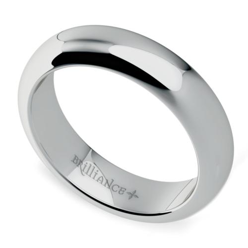 comfort fit mens wedding ring in palladium 5mm - Palladium Wedding Rings