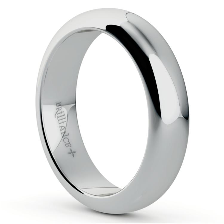 Comfort Fit Men's Wedding Ring in Palladium (5mm) | 02