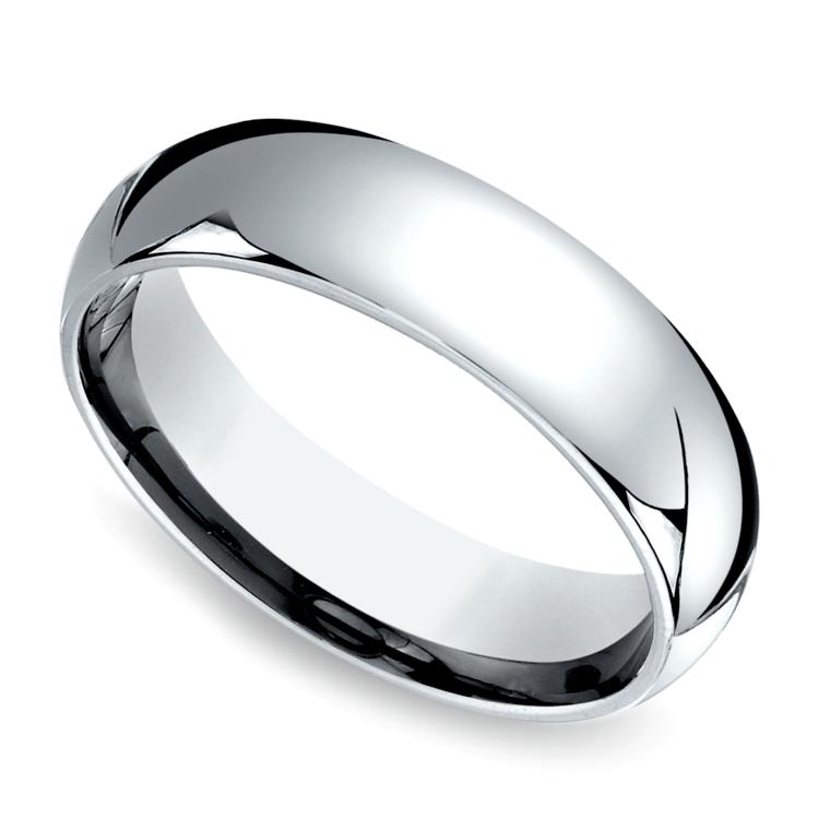 Comfort Fit Men's Wedding Ring in Palladium (6mm) | 01