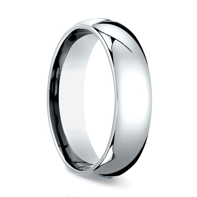 Comfort Fit Men's Wedding Ring in Palladium (6mm) | 02